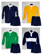 BRAND NEW Sports Kit - Long Sleeve Rugby Football Training Shirt AND Shorts