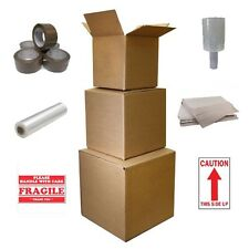 Moving Kit Boxes & Packing Supplies, Tape, Shrink Wrap Film, Paper Wrap Sheets