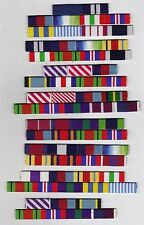 WW2 SETS OF MEDAL RIBBON BARS WITH GALLANTRY AWARDS - SEW ON TYPES - CHOICE OF 7