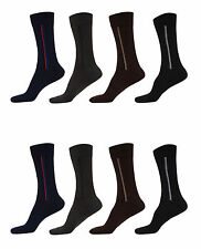 Q-Tex Mens Socks Breathable Multicolor Crew Length Cotton Socks Size