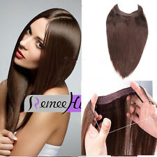 "16~24"" One Piece Invisible Wire Flip In 100% Remy Human Hair Extensions 100g"