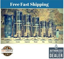 Berkey Water Filter Sys  Big Travel Royal Imperial Crown & Light EMPTY HOUSING