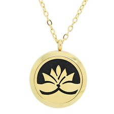 Aromatherapy (Aroma) Jewellery - 316L Stainless Steel Necklace - Gold
