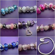 5 Glass & rhinestone beads charms - fit /for European charm bracelets 16 designs