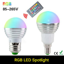 E27 Bulb 3W RGB LED Lights 16 Colors Change 24 Key IR Remote Controller 85 240V