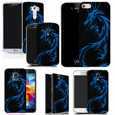 pictoral case cover for most Popular Mobile phones -  blue dragon