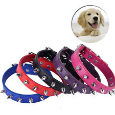 Fashion Dog Collars Sharp Spiked Studded Leather  Adjustable collar Pet Necklace