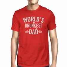 World's Drunkest Dad Men's Red Funny Fathers Day T Shirt For Him