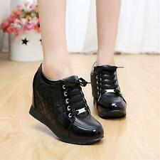 New Womens Shoes Lace Up Chic Sneakers Wedges Ankle Boots High Heels Casual BP##