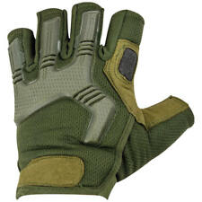 Highlander Raptor Fingerless Military Tactical Mens Gloves Airsoft Olive Green