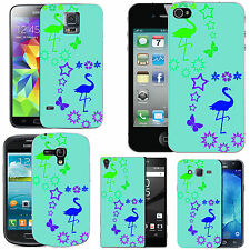 pattern case cover for many Mobile phones - azure multi flamingo star