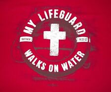 My LifeGuard Walks On Water T-shirt Christian Jesus New With Tags Various Sizes