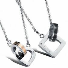"316L Stainless Steel ""Forever"" ""Love"" Engagement Couple Lovers Pendant Necklace"