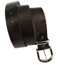 Western Memory Belt Leather Change belt City Antique Brown with Metal buckle