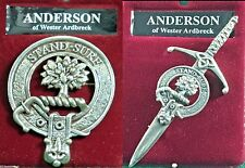 Anderson Scottish Clan Crest Pewter Badge or Kilt Pin