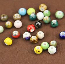 10Pcs Rondelle Ceramic Bead Porcelain Loose Spacer Bead DIY Jewelry Makings New