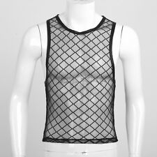Men's Tank Top T-Shirt Muscle Sleeveless  Bodybuilding Gym Mesh Shirt Undershirt