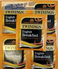 Twinings English Breakfast Tea & Decaffeinated - Individually enveloped & Tagged