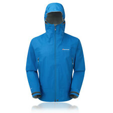 Montane Atomic Outdoor Mens Blue Windproof Waterproof Hooded Sports Jacket New