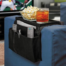 Sofa Couch Remote Control Holder Arm Rest Organizer Storage Tray Bag 6 Pocket OP