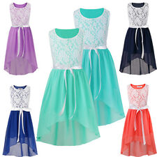 Flower Girls Princess Floral Dress Party Bridesmaid Wedding Pageant Formal Gown