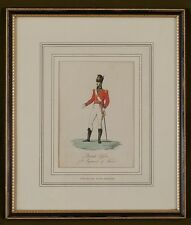 Officer 73rd Regiment of Foot 'The Royal Highlanders' Hand Coloured Engraving