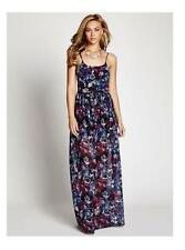 GUESS EPPIE SLEEVELESS WOVEN MAXI ALLOVER FLORAL PRINT PURPLE LONG DRESS XS S