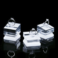 3/set Clear Acrylic rack Rings display stand Jewelry show case Holder Organizer