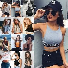 Newest Cotton Top tee  Womens Short Sleeve T-Shirt Midriff-Baring Crop Top Tee