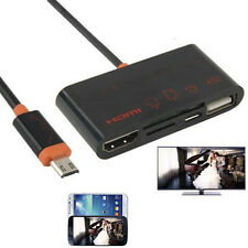 5in1 OTG SD TF Card Reader USB to HDMI TV Cable Adapter for Samsung Galaxy Phone