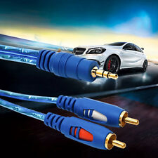 1.5/3/5M 3.5MM Male To 2RCA Male Stereo Audio Cable 1 To 2 AUX Audio Cable @F