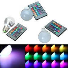 E14 GU10 E27 3W RGB LED 16 Colors Changing Lamp Light Bulb IR Remote Control