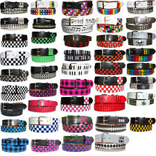 Punk Gothic Style New  Studded Unisex Men & Womens Studded Removable Buckle Belt