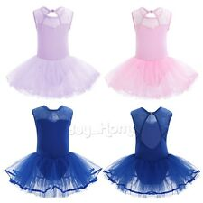 Toddler Kids Girls Party Ballet Dance Wear Tutu Skirt Dress Leotard Gym Costume