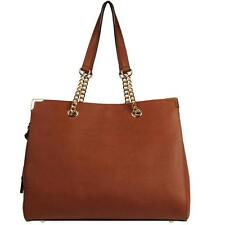 Wilsons Leather Womens Kate Large Saffiano Leather Tote W/ Chain Handles