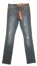 MENS STONE EDGE STRETCH SKINNY FIT RIPPED JEANS SE 404 - BLUE FADED DENIM