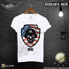 Festival Men's Skull T-shirt Music is My Religion Muscle Fitness Tank Top MD688