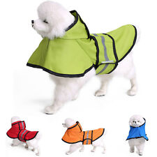 Pet Dog Puppy Rain Coat Raincoat Waterproof Jacket Rainwear Hood Reflective