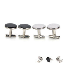 Round Cufflink Mens Shirt Cuff Bottons Enamel Cuff links Fashion Jewelry EF