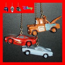 DISNEY-PIXAR CARS MOVIES FIGURINES CEILING FAN PULLS-LIGHTNING MCQUEEN, ETC…