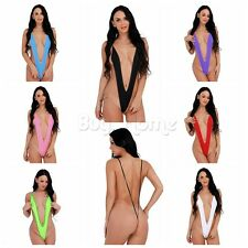 Women Micro Thong G string Brazilian One Piece Swimwear Monokini Bikini Swimsuit