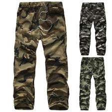 Mens Stylish Summer Trousers Cargo Combat Camouflage Military Army Work Pants
