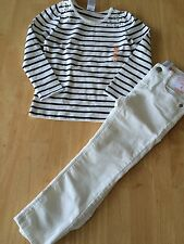 NWT Gymboree Flight of Fancy Stripe Tee Shirt Adj Waist Corduroy Pants Set SZ 4