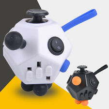 12-Side Magic Fidget Cube Anti-anxiety Stress Relief EDC Puzzle Adult Kids Toys