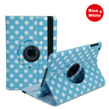 Dots 360   Rotating Case Cover for Apple iPad 4 in Blue, Pink