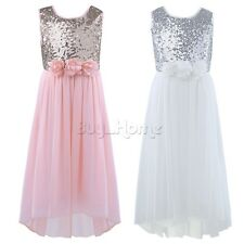 Flower Girls Princess Dress Kids Communion Party Wedding Pageant Dresses Clothes
