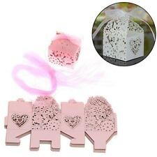 20x Laser Cut Candy Gift Boxes with Ribbon Wedding Baby Shower Favor Boxes I0A8