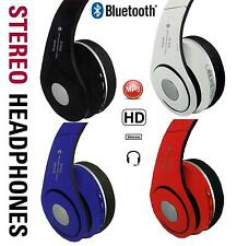 Foldable Bluetooth Stereo Wireless Headphones FM Cordless Headset with MIC New