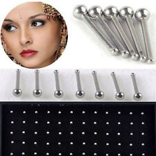 Wholesale 60 Pcs Simple Silver Ball Nose Stud Rings Body Piercing Jewelry 2mm
