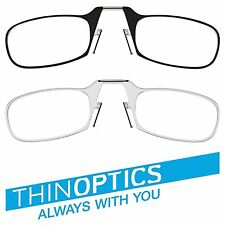 PROMO Thin  Reading Optics Glasses All Strengths with Universal Pod / Case nooz